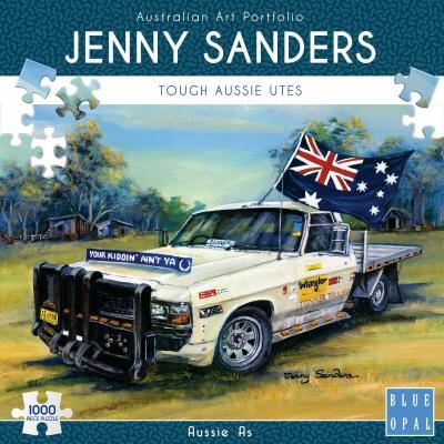 Blue Opal - Deluxe Jenny Sanders Aussie As Puzzle - 1000 pieces