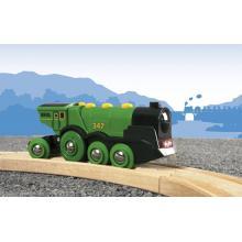Brio Railway 33593 - Big Green Action Locomotive - Battery Powered