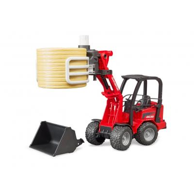 Bruder 02192 Schäffer Compact Loader 2034 with Bale Gripper & Bale - Scale 1:16 New 2019