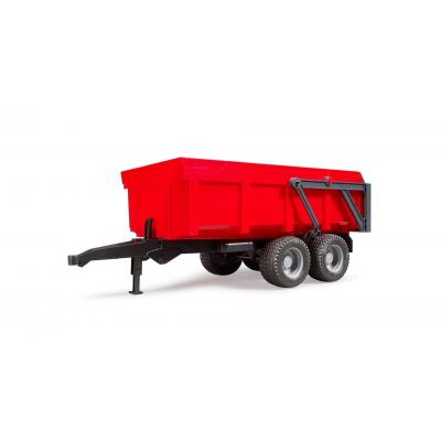 Bruder 02211 - Tipping Trailer Dual Axle with Auto Tailgate Red - Scale 1:16 - New 2019