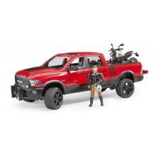 Bruder 02502 - Dodge RAM 2500 Power Wagon with Ducati Desert Sled - Scale 1:16 - New item 2018