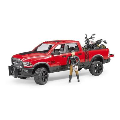 Bruder 02502 - Dodge RAM 2500 Power Wagon with Ducati Desert Sled - Scale 1:16 - New item 2018