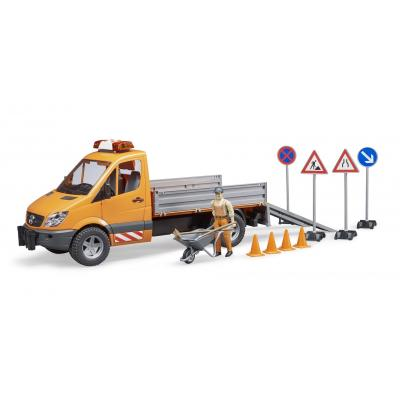 Bruder 02537 - Mercedes Benz Sprinter Municipal Vehicle with Driver and Accessories - Scale 1:16