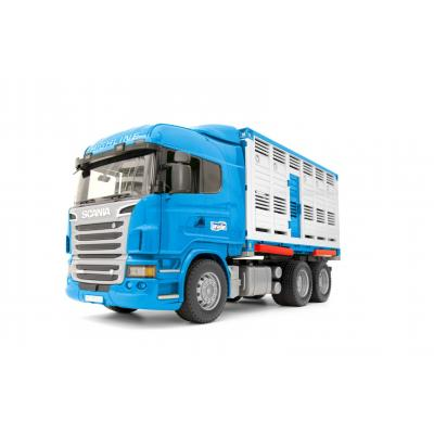 Bruder 03549 - Scania R-Series Livestock Transporter Container with Cow - Scale 1:16