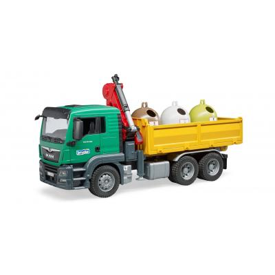 Bruder 03753 - MAN TGS Truck with Recycling Containers & Bottles - Scale 1:16 - New item 2019