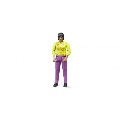 Bruder 60403 Bworld woman, dark skin, purple jeans