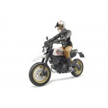Bruder 63051 - Scrambler Ducati Desert Sled Motorbike with Rider - Scale 1:16