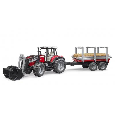 Bruder 02046 - Massey Ferguson 7480 Tractor with Tipping Trailer - Scale 1:16 - New 2020