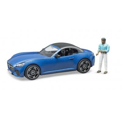 Bruder 03481 - Blue Roadster with Driver - Scale 1:16 - New 2020