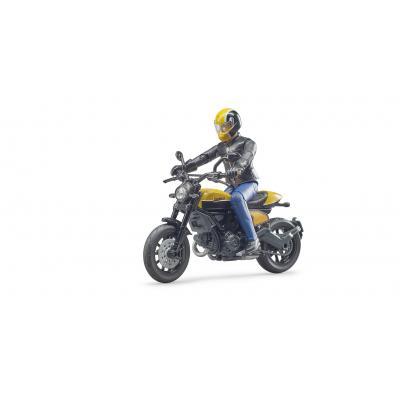 Bruder 63053 - Scrambler Ducati Full Throttle Motorbike with Rider - Scale 1:16