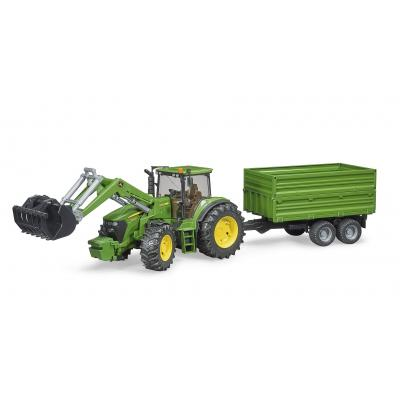 Bruder 03055 - John Deere 7930 Tractor with Frontloader and Trailer - 1:16 Scale