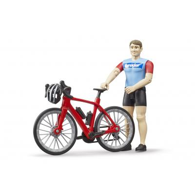 Bruder 63110 -  Road Bike with Cyclist - Scale 1:16