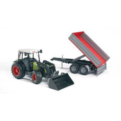 Bruder 02112 - Claas Nectis 267 F Tractor with Frontloader and Tipping Trailer - Scale 1:16