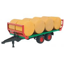 Bruder 02220 - Bale Transport Trailer with 8 Round Bales - Scale 1:16