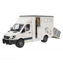 Bruder 02533 - Mercedes Benz Sprinter animal transporter and 1 horse - Scale 1:16