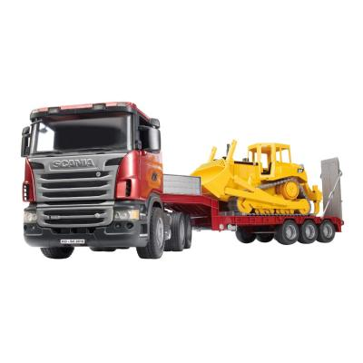 Bruder 03555 - SCANIA R-series Low Loader Truck with CAT Bulldozer - Scale 1:16