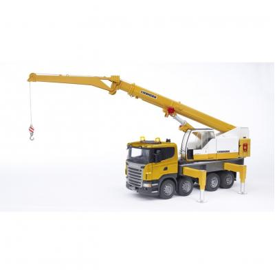Bruder 03570 - SCANIA R-series Liebherr crane Truck with Light and Sound Module- Scale 1:16