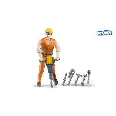 Bruder 60020 - bworld Construction worker with accessories - Scale 1:16
