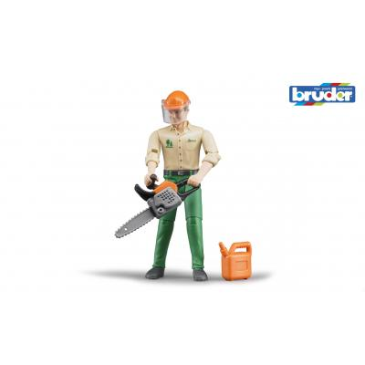 Bruder 60030 - bworld  Forestry worker with accessories - Scale 1:16