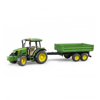Bruder 02108 John Deere 5115 M Tractor with tipping trailer Scale 1:16