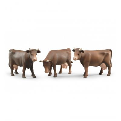 Bruder 02308 - Brown Cow (head right, head down or head left) - Scale 1:16
