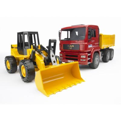 Bruder 02752 - MAN TGA Construction truck with articulated road loader FR130 - Scale 1:16