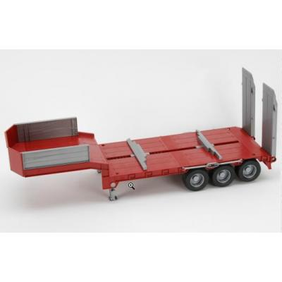 Bruder 42823 - Low loader trailer Red - Scale 1:16