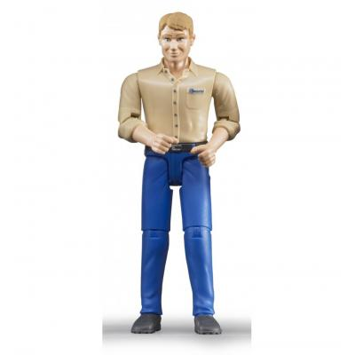Bruder 60006 - Bworld Man light skin in Blue Jeans - Scale 1:16