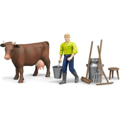 Bruder 62605 - Farming Set with Cow & Accessories