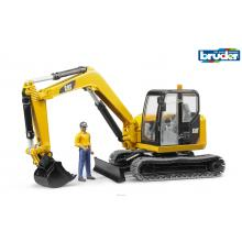 Bruder 02466 CAT Caterpillar Mini Excavator with Constructon Worker - Scale 1:16