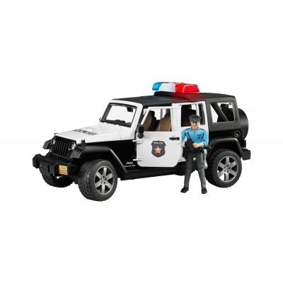 Bruder 02526 - JEEP Wrangler Unlimited Rubicon Police Vehicle with Policeman and Light and Sound - Scale 1:16
