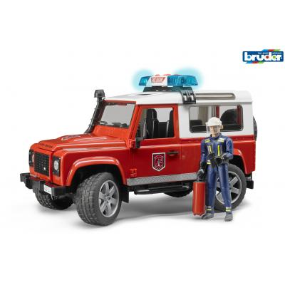 Bruder 02596 Land Rover Defender Station Wagon Fire Department with Fireman Scale 1:16 - New release 2016