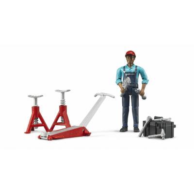 Bruder 62100 Figure Set Mechanic with Garage Equipment