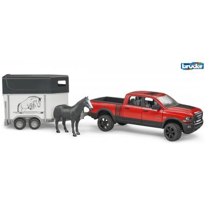 Bruder 02500 Dodge RAM 2500 Power Wagon Pickup Truck with Horse Trailer and Horse - New release 2017 - Scale 1:16
