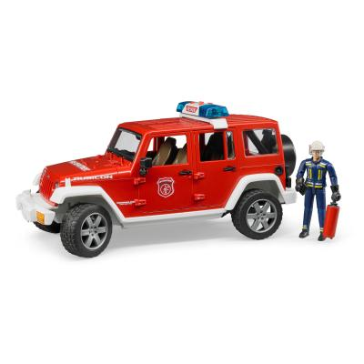 Bruder 02528 JEEP Wrangler Unlimited Rubicon Fire Department with Fireman and Light and Sound - Scale 1:16 New release 2017