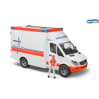 Bruder 02536 Mercedes Benz Sprinter Ambulance with Driver - New release 2017 - Scale 1:16