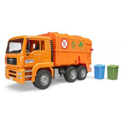 Bruder 02760 MAN TGA Garbage Truck Orange - New release 2017 - Scale 1:16