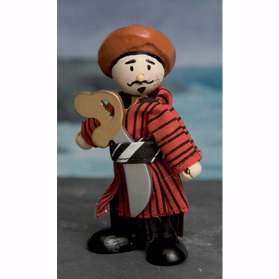 Le Toy Van - Wooden Budkins Figurine - Oriental Pirate