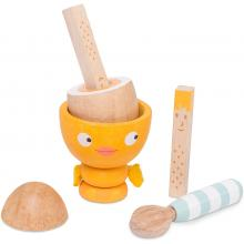 Le Toy Van TV315 - Honeybake Chicky-Chick Egg Cup Set Wooden