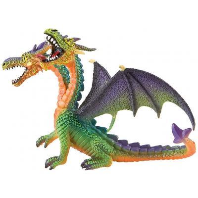 Bullyland 75596 - Dragon double-headed green