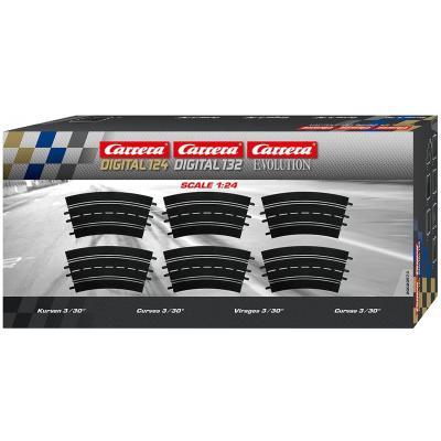 Carrera 20573 Digital Evolution1:32 Curve 3/30° 6 Pieces Track Pack