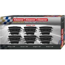 Carrera 20577 Digital Evolution1:32 Curve 1/30° 6 Pieces Track Pack