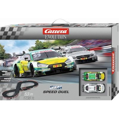 Carrera 25234 Evolution 1:32 DTM Speed Duel Slot Car Set Mercedes AMG vs Audi RS5