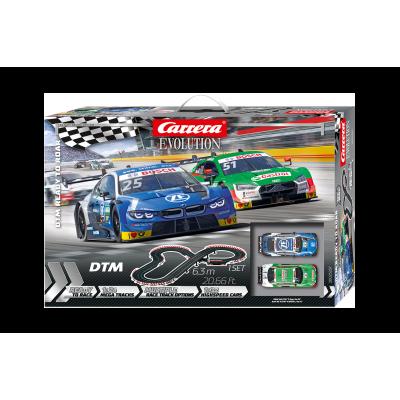 Carrera 25237 Evolution 1:32 DTM Ready to Road Slot Car Set BMW M4 vs Audi RS5