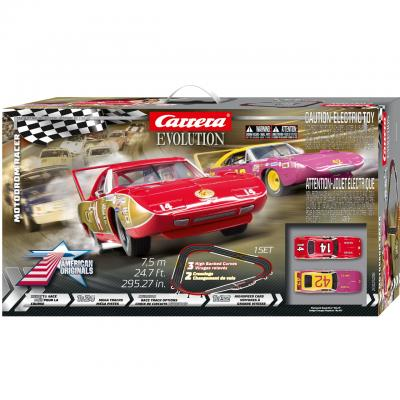 Carrera 25238 Evolution 1:32 Motodrom Racer Slot Car Set Plymouth Superbird vs Dodge Charger