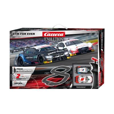 Carrera 25239 Evolution 1:32 DTM For Ever Slot Car Set BMW M4 vs Audi RS5