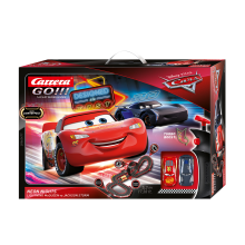 Carrera 62477 Go!!! DISNEY Pixar CARS 3 Neon Lights Slot Car Racing Set 1:43