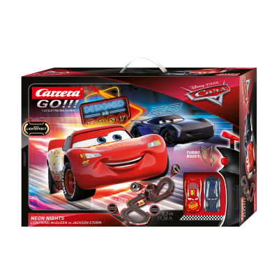 Carrera 62477 Go!!! DISNEY Pixar CARS 3 Neon Lights Slot Car Racing Set 1:43