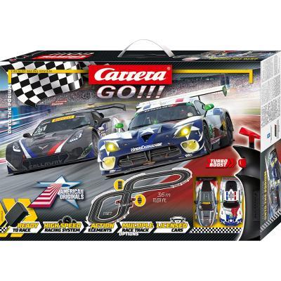 Carrera 62521 - GO!!! 1:43 Onto The Podium Slot Car Racing Set Dodge Viper vs Corvette C7.R