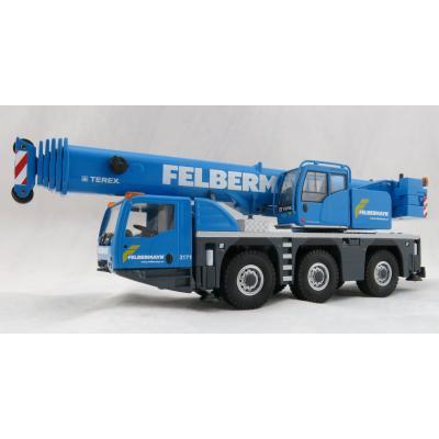 Conrad 2116/02 Terex 3160 Challenger 3axle Mobile Telescopic Crane Felbermayr Livery - Scale 1:50